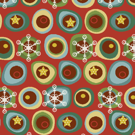 Tis the Season for Snowflakes fabric by littlerhodydesign on Spoonflower - custom fabric