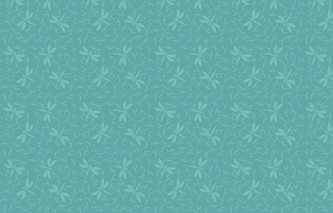 Ditsy Dragonflies minagreen & bluegreen fabric by mina on Spoonflower - custom fabric