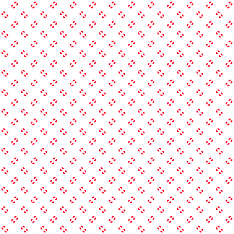 Simple speckles in Christmas red on white fabric by bargello_stripes on Spoonflower - custom fabric