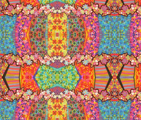 Florecita rockera fabric by lita_blanc on Spoonflower - custom fabric