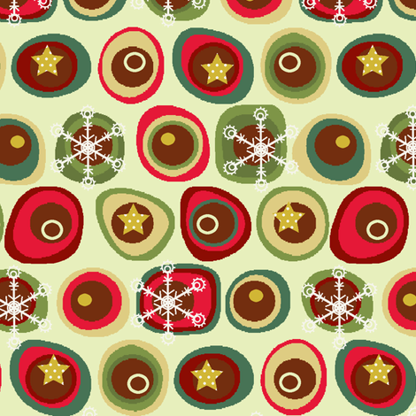 Tis the Season for Snowflakes- linen fabric by littlerhodydesign on Spoonflower - custom fabric