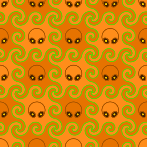 pumpkin head octopod fabric by sef on Spoonflower - custom fabric