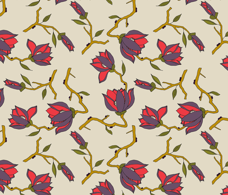 Jackmani Cream fabric by mag-o on Spoonflower - custom fabric