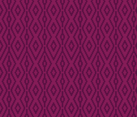 Aztec Diamonds in Plum fabric by ashleycooperdesign on Spoonflower - custom fabric