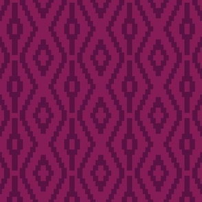 Aztec Diamonds in Plum