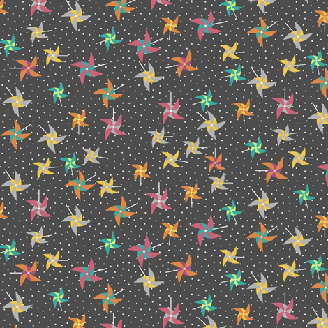 PinwheelSlate fabric by mrshervi on Spoonflower - custom fabric