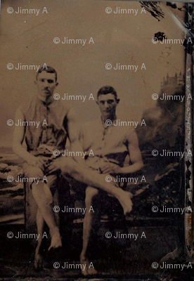 Gay Romantic Tintype