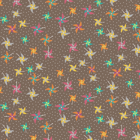 PinwheelLatte fabric by mrshervi on Spoonflower - custom fabric