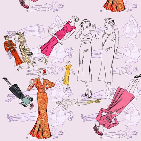 Swanky 30s pinups fabric by nalo_hopkinson on Spoonflower - custom fabric
