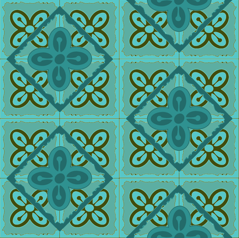 Adinkra diamond bese saka fabric by nalo_hopkinson on Spoonflower - custom fabric