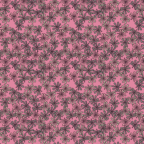 leafy pinks fabric by glimmericks on Spoonflower - custom fabric