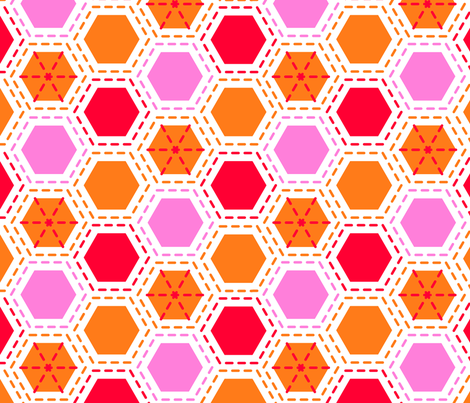 Tilkkutakki (Warm Colours) A fabric by nekineko on Spoonflower - custom fabric