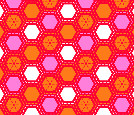 Tilkkutakki (Warm Colours) B fabric by nekineko on Spoonflower - custom fabric