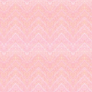 Leaf Chevron -- in pinks and corals