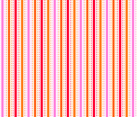 Tilkkutakki (Warm Colours) C fabric by nekineko on Spoonflower - custom fabric