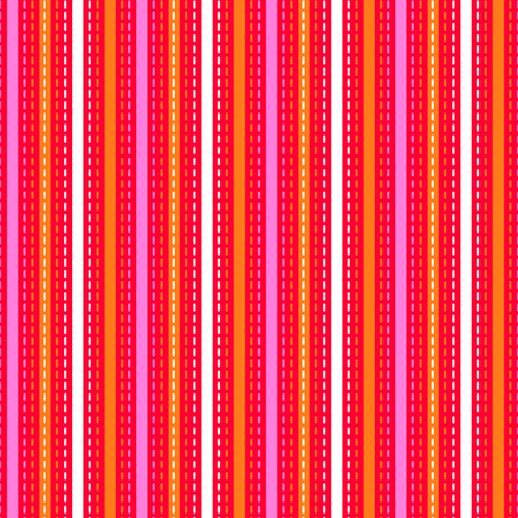 Tilkkutakki (Warm Colours) D fabric by nekineko on Spoonflower - custom fabric