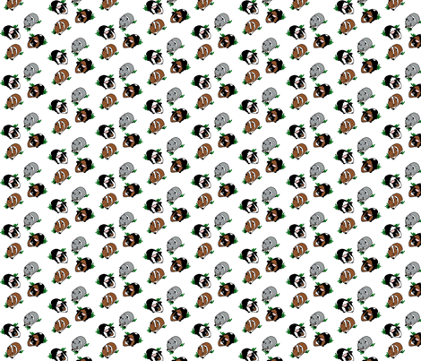 Guinea Pigs fabric by upcyclepatch on Spoonflower - custom fabric