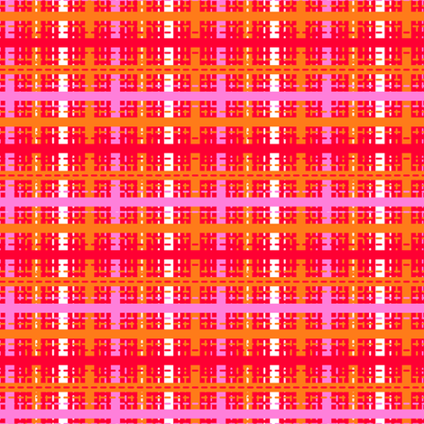 Tilkkutakki (Warm Colours) F fabric by nekineko on Spoonflower - custom fabric