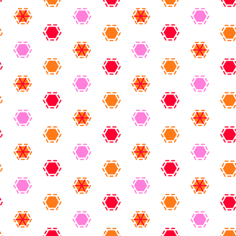 Tilkkutakki (Warm Colours) G fabric by nekineko on Spoonflower - custom fabric