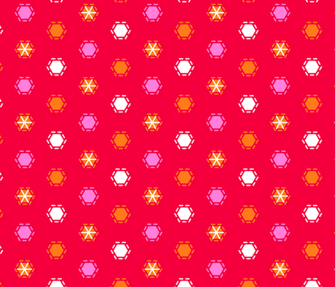 Tilkkutakki (Warm Colours) H fabric by nekineko on Spoonflower - custom fabric