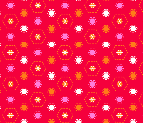 Tilkkutakki (Warm Colours) J fabric by nekineko on Spoonflower - custom fabric