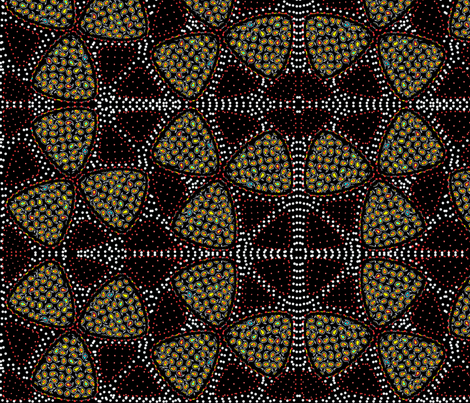 millefiore doubled fabric by glimmericks on Spoonflower - custom fabric