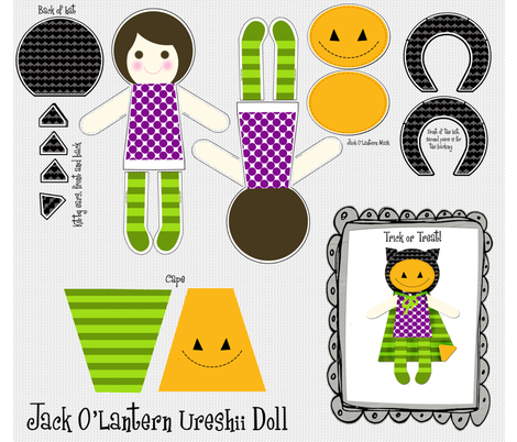 Ureshii Doll Halloween fabric by natitys on Spoonflower - custom fabric