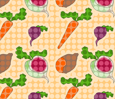 Spotty Veg fabric by blackwood on Spoonflower - custom fabric
