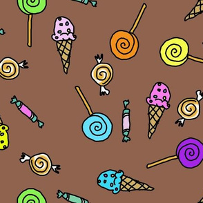 Candy Scatter Brown