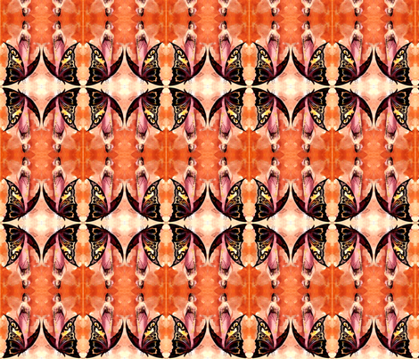 butterfly ladies fabric by olivemlou on Spoonflower - custom fabric
