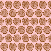 Flor - Brown on Pink
