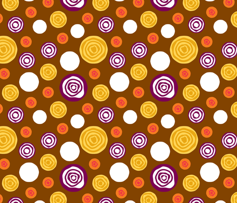 Sliced Dots : Earth fabric by modgeek on Spoonflower - custom fabric