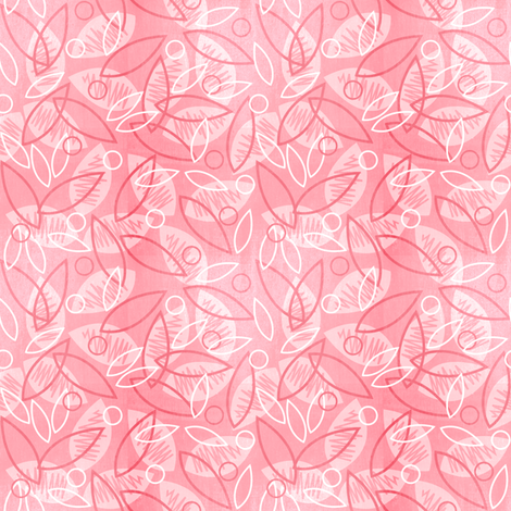 Sketchy Leaves (Pink) fabric by robyriker on Spoonflower - custom fabric