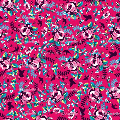 Summer florals pink