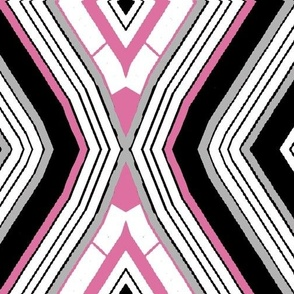 Ndebele Diamond in black, white, gray, and pink
