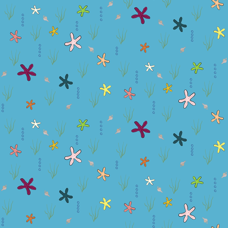Ditzy Starfish fabric by kamilindoto on Spoonflower - custom fabric