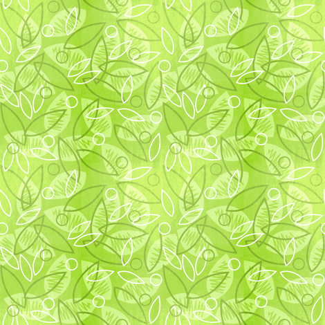 Sketchy Leaves (Ditsy Green) fabric by robyriker on Spoonflower - custom fabric