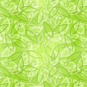 Sketchy Leaves (Ditsy Green)