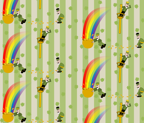 Busy Leprechauns fabric by lowa84 on Spoonflower - custom fabric