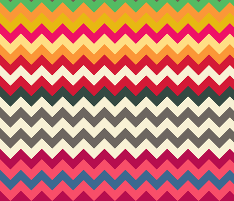 boho elephant chevron fabric by scrummy on Spoonflower - custom fabric