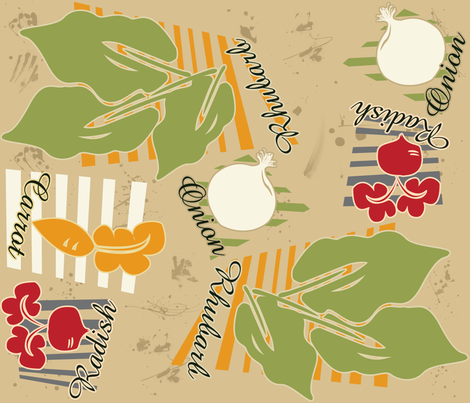 ROOT-VEGGIES fabric by yourfriendamy on Spoonflower - custom fabric
