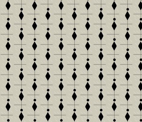 mod pox black and greige fabric by ninaribena on Spoonflower - custom fabric
