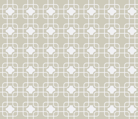 hollywood trellis greige fabric by ninaribena on Spoonflower - custom fabric