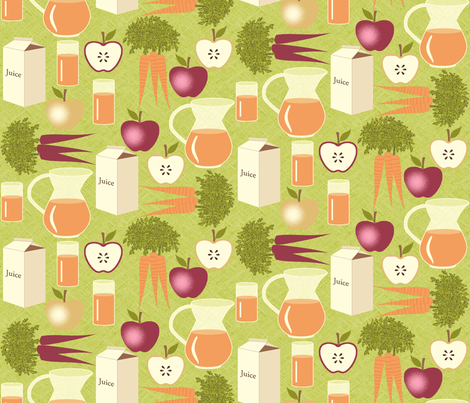 Carrot Juice is Better With Apples - Green fabric by inscribed_here on Spoonflower - custom fabric