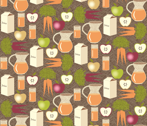 Carrot Juice is Better With Apples - Brown fabric by inscribed_here on Spoonflower - custom fabric