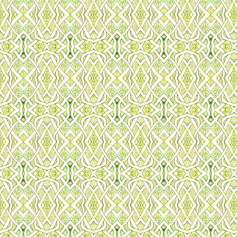 Tiny Pesudo Persian Fishnet (lime/pear) fabric by edsel2084 on Spoonflower - custom fabric
