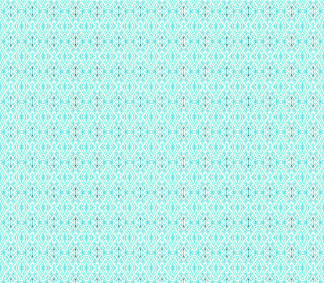Tiny Pesudo Persian Fishnet (aqua) fabric by edsel2084 on Spoonflower - custom fabric