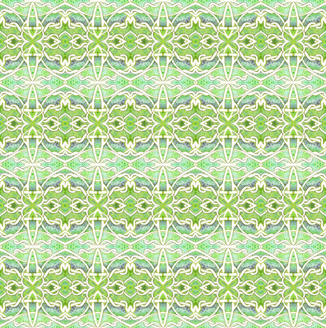 Persian Gardens fabric by edsel2084 on Spoonflower - custom fabric