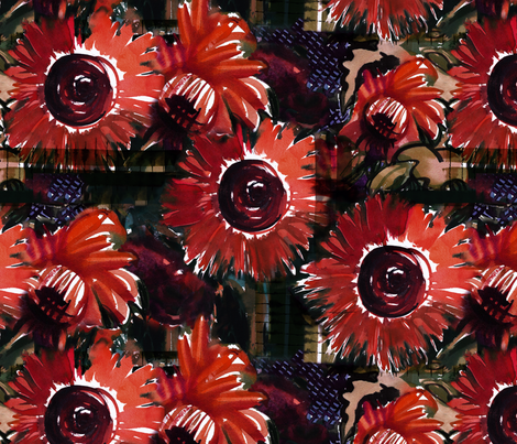 "C'EST LA VIVâ""¢   H2 flower fabric by cest_la_viv on Spoonflower - custom fabric"