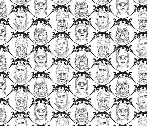 Hollywood Hunks fabric by belindabilly on Spoonflower - custom fabric